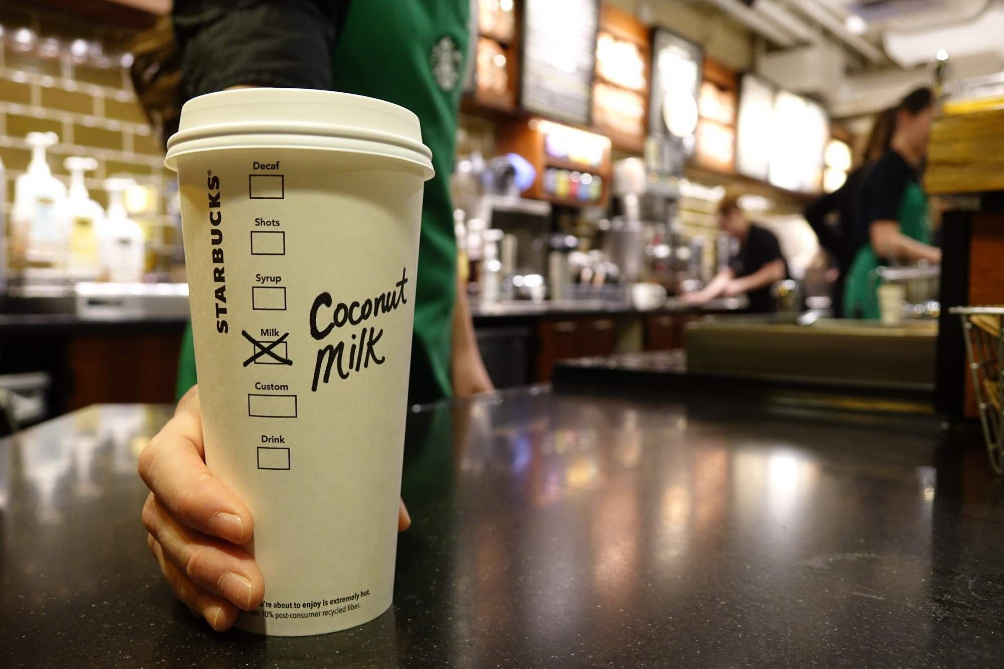 Starbucks Canada responds to customers and adds Coconut Milk