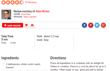 Alton Brown 's Curry Powder Blend Recipe
