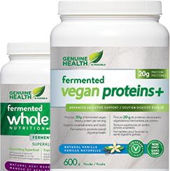 Genuine Health Greens+ fermented products