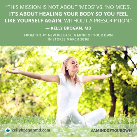 The mission is not about meds vs. no meds.
